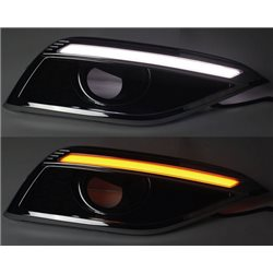 HONDA CRV 2013 - 2016 3 in 1 LED Light Bar Day Time Running Light DRL + Signal + Auto On Fog Lamp Cover (AL)