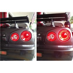 NISSAN SKYLINE R34 1998 - 2002 EAGLE EYES Red Clear LED Tail Lamp [TL-135]