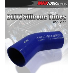 """BLITZ 45º Degree 2"""" Inch 3 Layer Racing Elbow Silicone Tubes"""