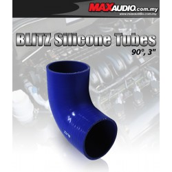 "BLITZ 90º Degree 3"" Inch 3 Layer Racing Elbow Silicone Tubes"
