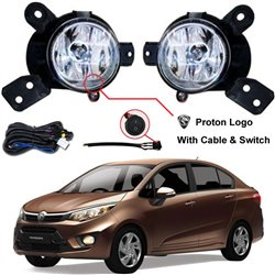 PROTON PERSONA 2016 SAXO OEM Plug & Play Fog Lamp Spot Light with Bulb, Full Wiring Kit & On/Off Switch Mada In Malaysia [PR55]