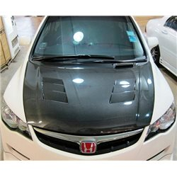 HONDA CIVIC FD/ FD2R 2006 - 2011 MUGEN Style Super Light Weight Real Carbon Fiber Front Bonnet Hood [FD C003]