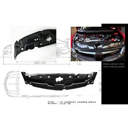 HONDA CIVIC FD/ FD2R 2006 - 2011 OEM Style Light Weight Real Carbon Fiber Radiator Cooling Plate [FD C009]