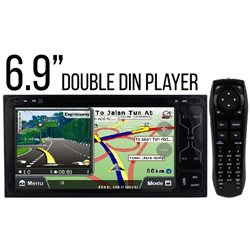 "ALL TOYOTA DLAA DA-6077N 7"" Double Din DVD MP3 CD USB SD BT Player with GPS Free Rear Camera & TV Antenna"