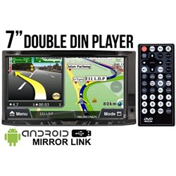 "SKY AUDIO 7"" Full HD Double Din GPS DVD VCD MP3 CD USB SD Bluetooth TV Player w/ Android Mirror Link & 6 CD Recorder [JTM-6929N]"