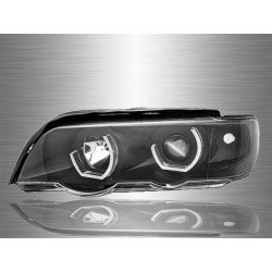 BMW X5 E53 2000 - 2006 Projector LED 3D Angle Eyes Head Lamp [HL-030-BMW]