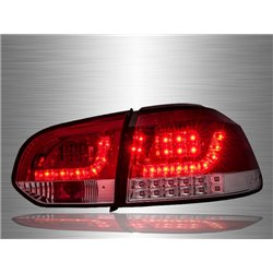 VOLKSWAGEN GOLF MK6 2008 - 2014 Red Clear LED Tail Lamp [TL-186-2]