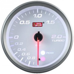 AUTOGAUGE 80mm Amber, White and Blue (White Face) Boost Meter[562]