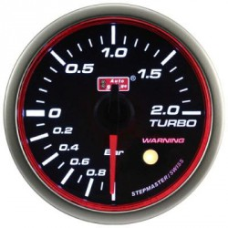 AUTOGAUGE 60mm Super White LED Angel Ring (Black Face) Boost Meter [652]