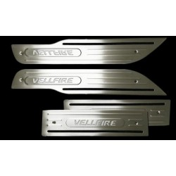TOYOTA VELLFIRE Stainless Steel LED Door Side Sill Step Plate Made In Taiwan