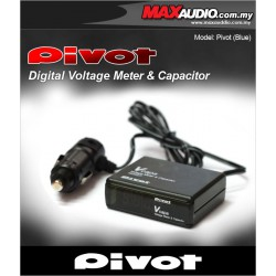 PIVOT V Capa Volt Meter In-Car Voltage Stabilizer Made In Japan