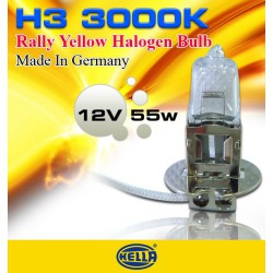 HELLA H3 3000K Rally Yellow Halogen Bulb Per Pair Made In Germany