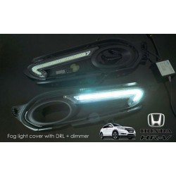 HONDA HRV 3 in 1 LED Day Time Running Light DRL + Auto Dimmer + Auto On Fog Lamp Cover