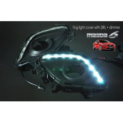 MAZDA 6 2013 - 2015 3 in 1 LED Day Time Running Light DRL + Auto Dimmer + Auto On Fog Lamp Cover