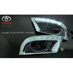 TOYOTA CAMRY XV-40 2009 - 2011 3 in 1 LED Day Time Running Light DRL + Auto Dimmer + Auto On Fog Lamp Cover