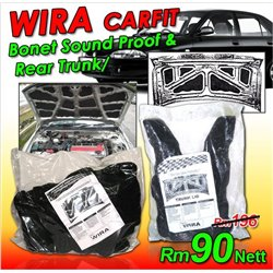 2 in 1 PROTON WIRA, WAJA, ISWARA, SAGA 1989 Sedan CARFIT Front Hood Bonnet & Rear Trunk Boot Sound Proof