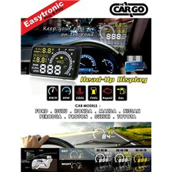 "Most Cars TRIO 5.5"" OBD2 HUD Head Up Display KM/h & MPH, Speeding Warning & Fuel Consumption Display"