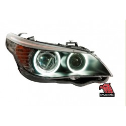 EAGLE EYES Black Housing CCFL Projector Head Lamp: BMW E60 '04-'08 [HL-021-BMW]