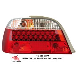 BMW E38 7-SERIES 1996 - 2001 EAGLE EYES CRYSTAL WHITE RED LED Tail Lamp [TL-011-BMW]