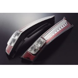 EAGLE EYES HONDA STREAM '07 - '09 RED/CLEAR LENS LED Tail Lamp [TL-153-1]